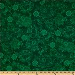 Phantom of the Opera Masquerade Floral Tones Green