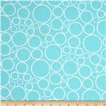 "0290584 108""  Wide Spot On Wide Quilt Backing Circles Aqua"