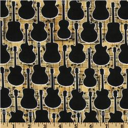 Guitar Silhouettes Gold/Black