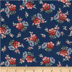 Heart of the Prairie Medium Floral Navy