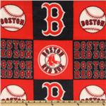 CW-822 MLB Fleece Boston Red Sox Blocks White/Red/Blue