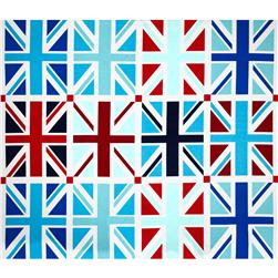 "Riley Blake Union Jack 24"" Panel Blue"