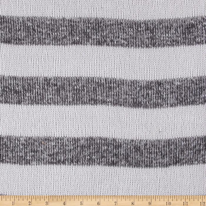 Designer Cozy Sweater Knit Stripes Black/White