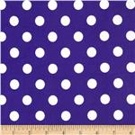 0296567 Stretch ITY Jersey Knit Large Dots Purple/White