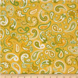 Cuteville Country Fair Paisley Yellow