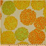 Della Flannel Pom Pom Citrus