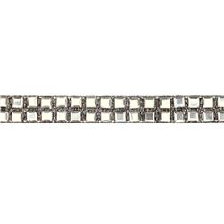 Hot Fix Flatback Rhinestone Trim Square/Black Band