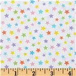 Brights &amp; Pastels Stars White Multi