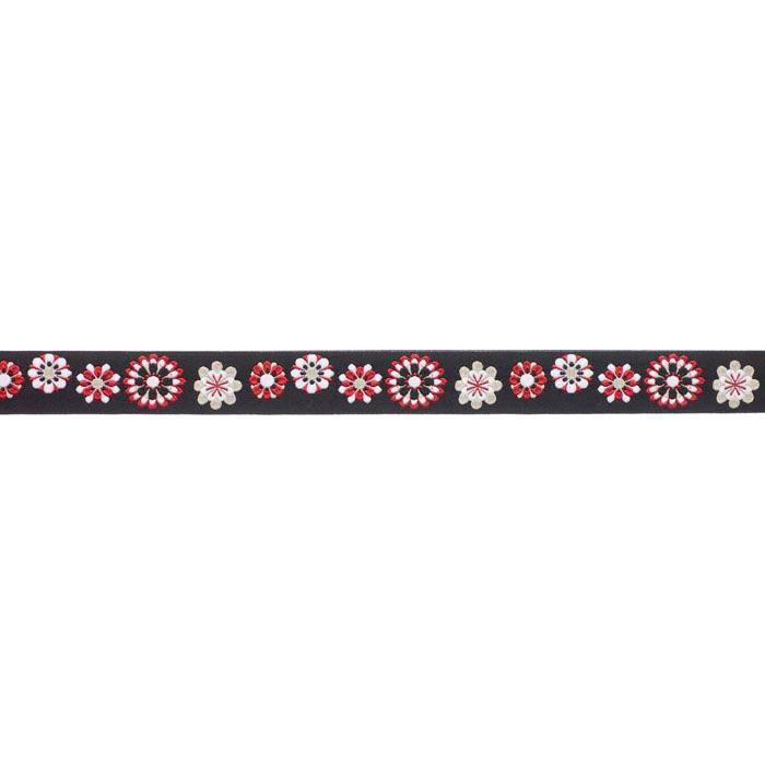 7/8'' Ribbon Flowers Black/Red