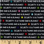 FR-663 Peanuts-Project Linus Security Blanket Words Black