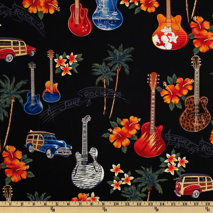 Tropicals and Conversationals Cars and Guitars Black