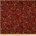 Holiday Opulence Paisley Red