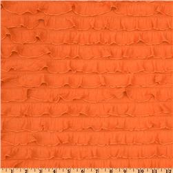 Stretch Ruffle Knit Orange