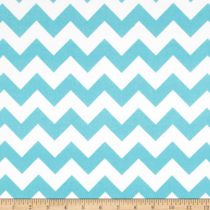 Riley Blake Flannel Basics Chevron Medium Aqua