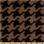 Minky Soft Cuddle Houndstooth Mocha/Chocolate