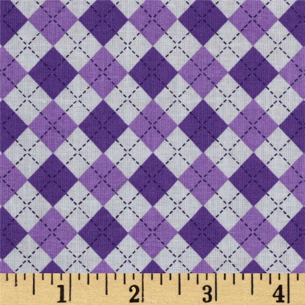 Argyle Purple/White