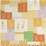 Kokka Trefle Ballerina Patchwork Orange