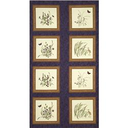Moda Enchanted Pond Panel Purple Dusk