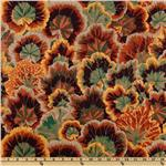 Kaffe Fassett Collective 2010 Terra Variegated Leaves Brown