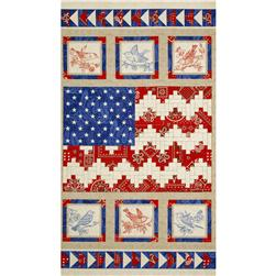 American Beauty American Quilt Flag Panel Blue/Red