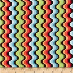 Modern Age Wavy Chevron Red