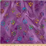 0269815 Indian Batik Mini Floral Lavender