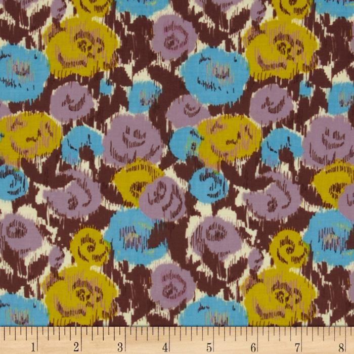 Love Grows Ikat Floral Plum