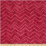 Tonga Batik Zig Zag Berry Pink