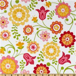 Riley Blake Hello Sunshine Flannel Tossed Floral White