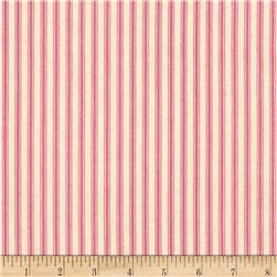 "44"" Ticking Stripe Pink"