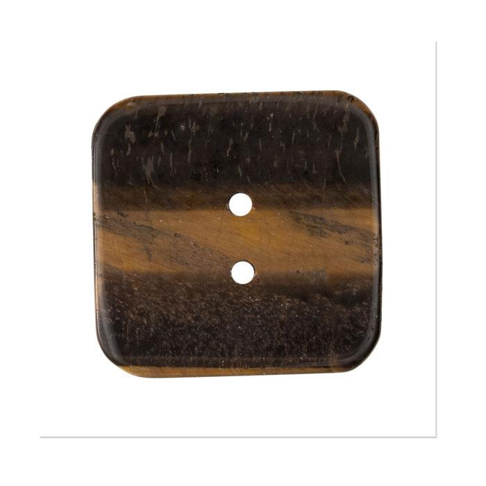 Precious Elements Stone Tigers Eye Button 1 1/2&#39;&#39; Brown