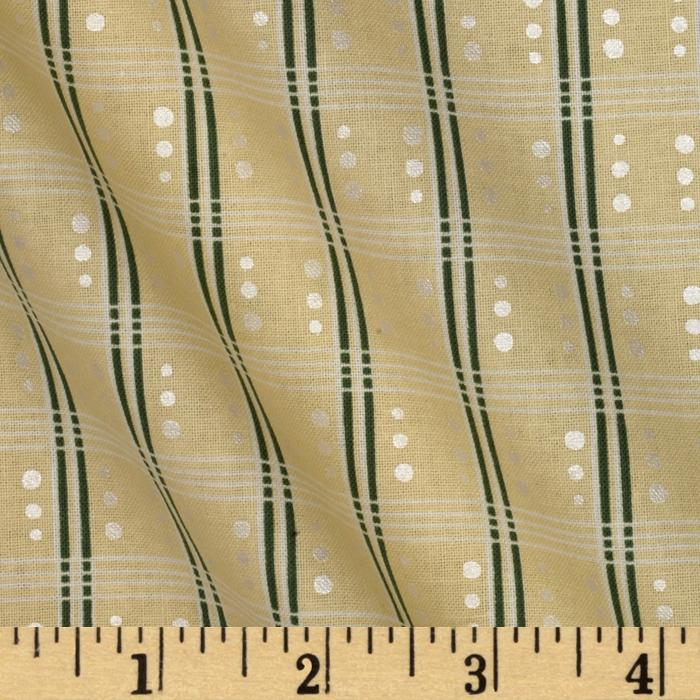Bowood House Double Striped Shirting Cream/Green
