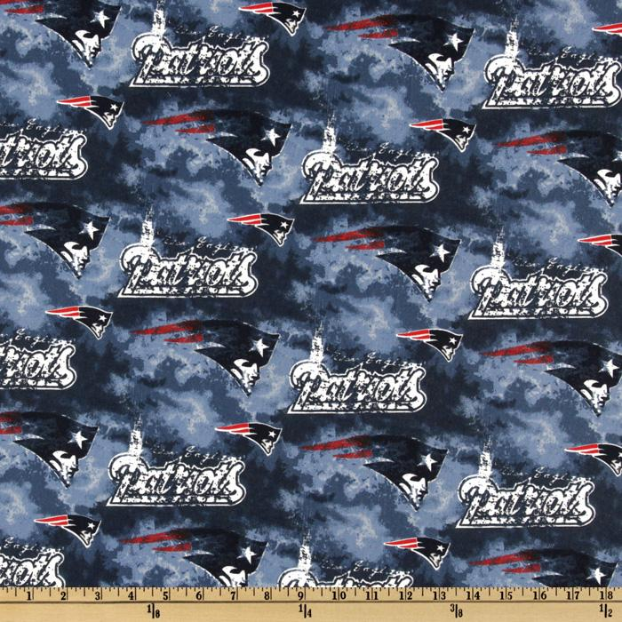 NFL Cotton Broadcloth New England Patriots Blue