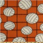 Novelty Fleece Volleyball Orange