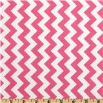 FT-468 Riley Blake Chevron Small  Hot Pink