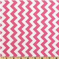 Riley Blake Chevron Small  Hot Pink
