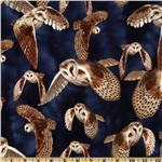 Timeless Treasures Owls Midnight