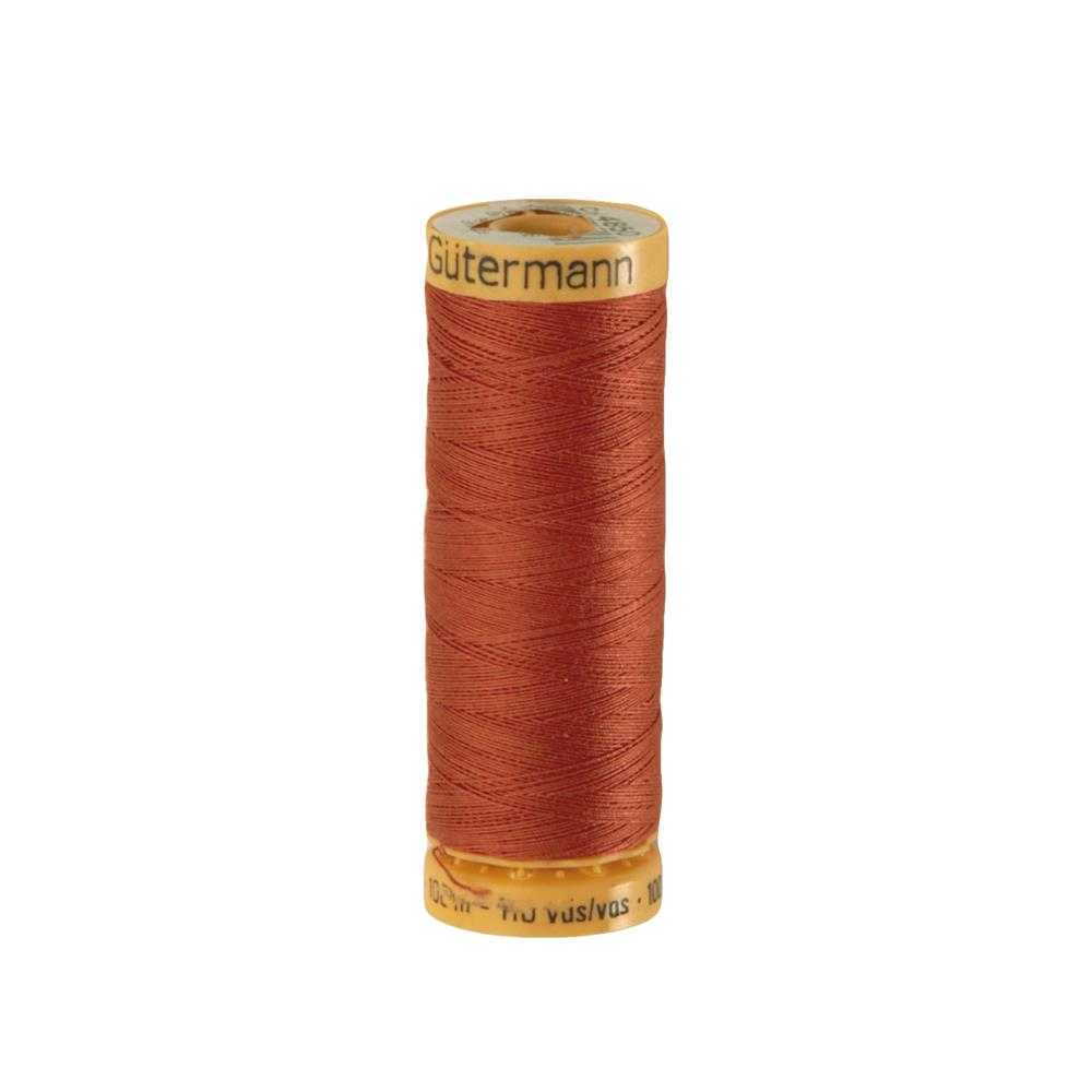 Gutermann Natural Cotton Thread 100m/109yds Terracotta