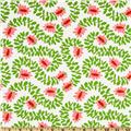 Michael Miller Christmas Meandering Vines Lawn Green
