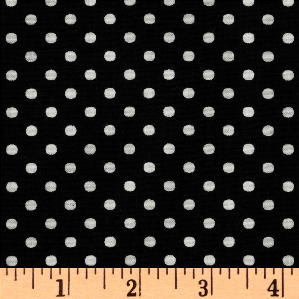 Crazy for Dots & Stripes Dottie Black/White