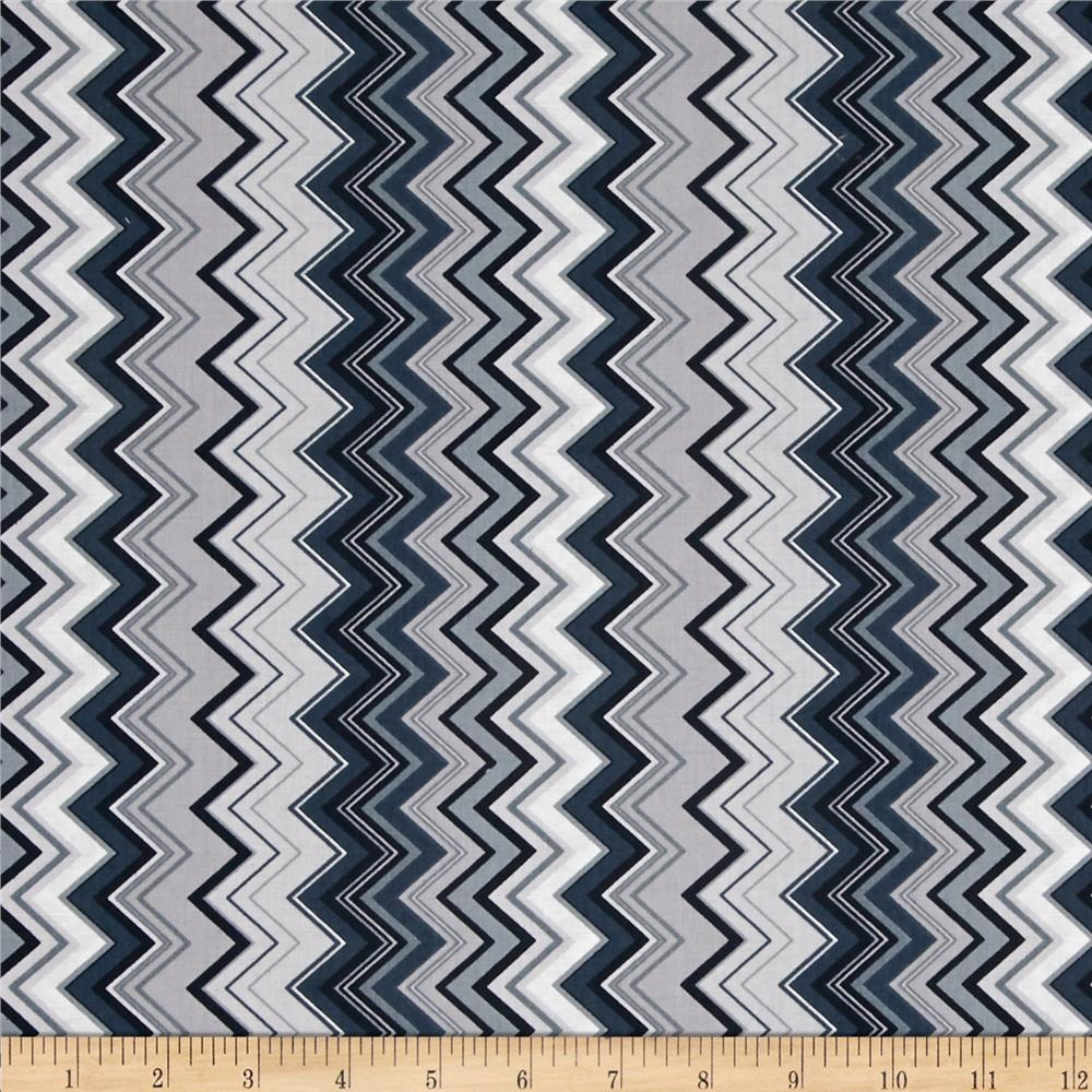 Chevron Chic Packed Chevron Grey