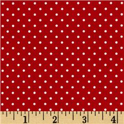 Riley Blake Swiss Dots Red/White