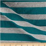 Designer Sparkle Hatchi Knit Stripe Turquoise/Silver