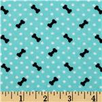 High Style Dots &amp; Bones Aqua