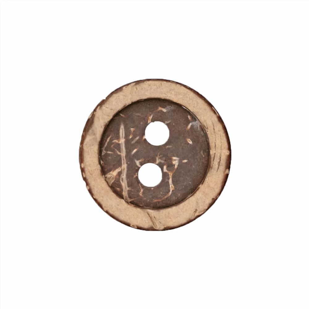 "Fashion Button 1 1/8"" Coconut Natural"