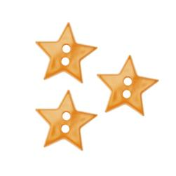 Novelty Button 5/8'' Star Mustard