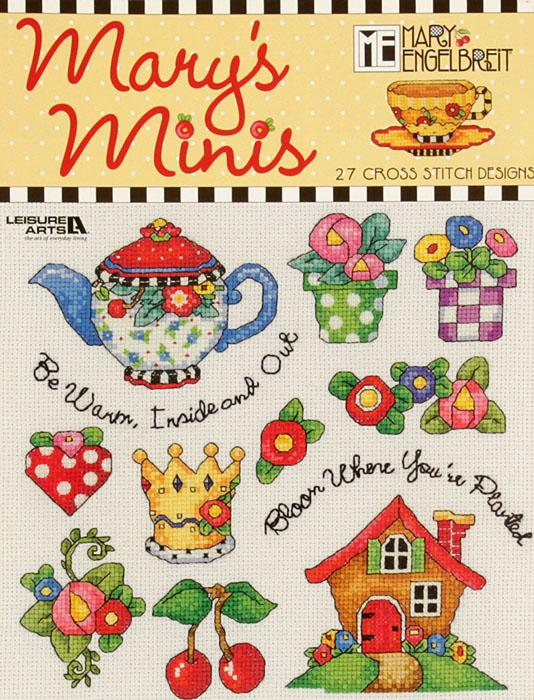 "Leisure Art Mary Engelbreit ""Mary's Minis"" Cross Stitch Booklet"