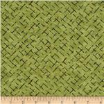 Moda Enchanted Pond Prints Diamonds Grass Green