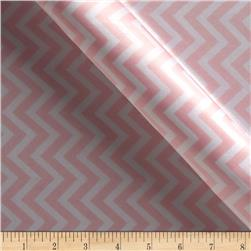 Charmeuse Satin Chevron Blush/White