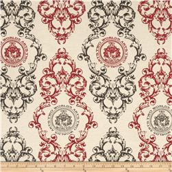 Creations Medallion Red/Charcoal